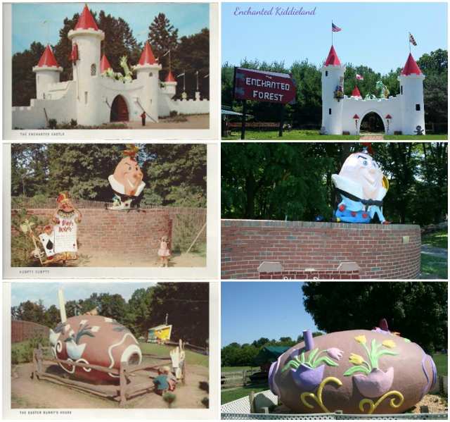 Castle Gates Then and Now Humpty Dumpty Back on his wall, and the Easter Bunny back home again.